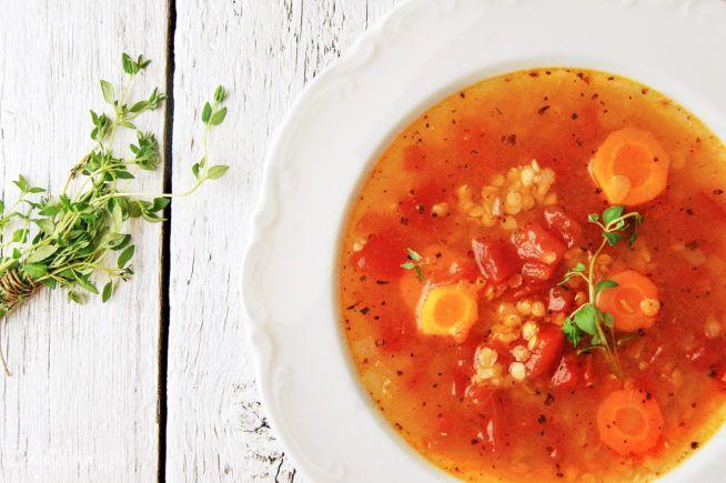 Znalezione obrazy dla zapytania zupa z czerwonej soczewicy