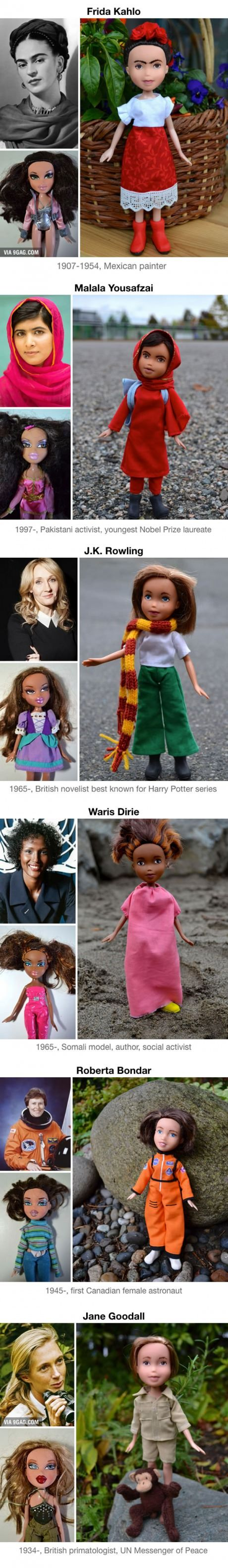 Artist Removes Make-Up From Hollywood And Disney Dolls To Turn Them Into Inspiring Real-Life Women