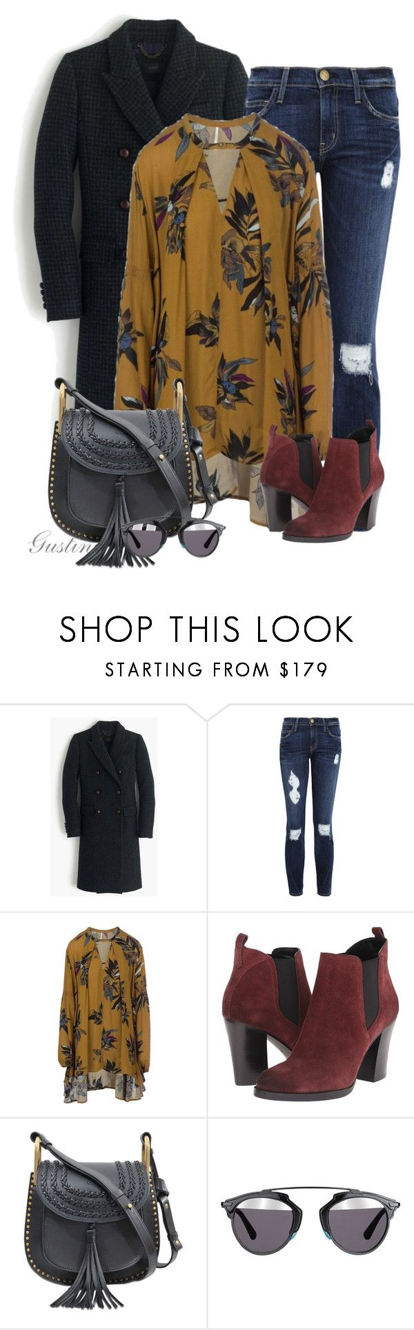"""""""fall"""" by stacy-gustin ❤ liked on Polyvore featuring J.Crew, Current/Elliott, People Tree, Marc Fisher LTD, Chloé, Christian Dior and ootd"""