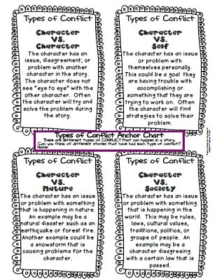 Free Types of Conflict Chart: Students analyze the conflict in the story.