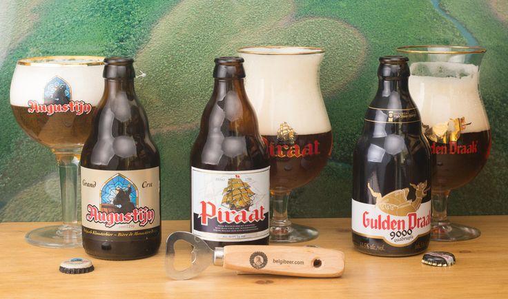 """Augustijn - Piraat - GuldenDraak - Augustijn Grand Cru - Piraat - Gulden Draak 9000 Quadruple  (brouwerij Van Steenberge - Belgique) -  grâce à """"Belgibeer"""" https://www.belgibeer.fr/Box-Biere-Belge/refer_id=846 -"""