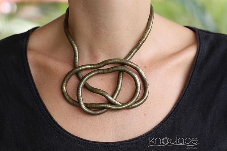 'Original' Knotlace bendy necklace  accessory. Antique/Rose Gold. - http://www.knotlace.com.au/ #style #fashion #accessory #jewellery #goldaccessory #antiquegold #rosegold #antiquegold #rosegold