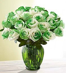 St. Patrick's Day Roses: 12-24 Stems Conroy's Flowers-Redondo