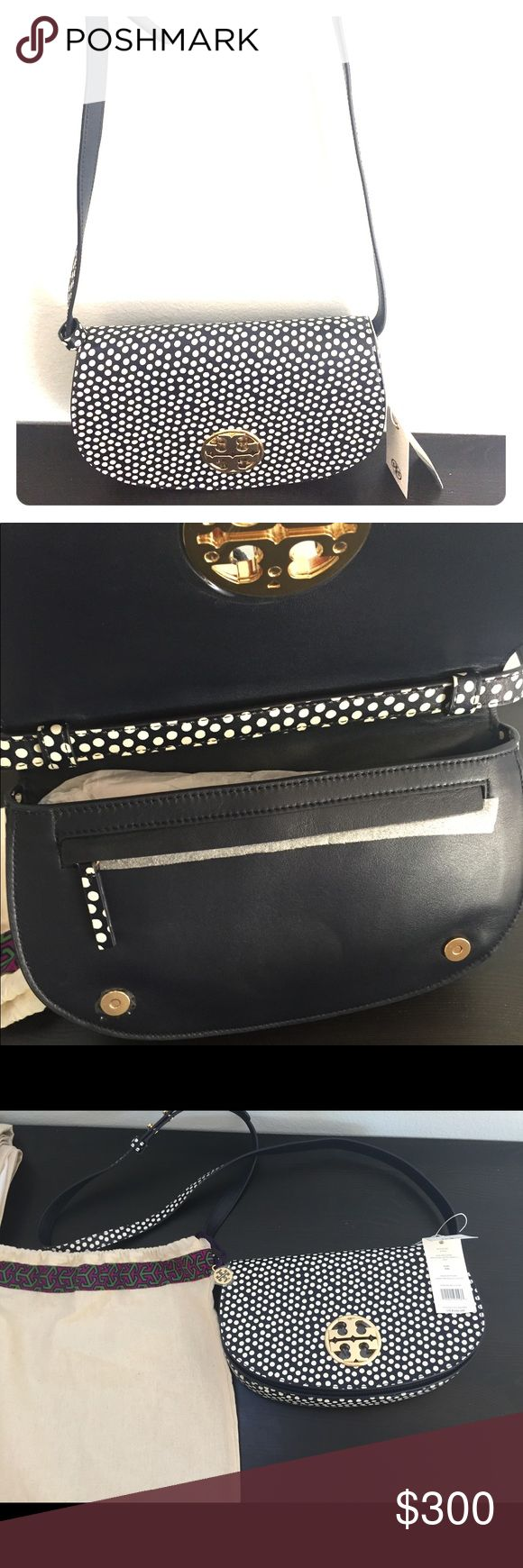 Tory Burch Jamie Printed Clutch Navy blue and white clutch Tory Burch Bags Clutches & Wristlets