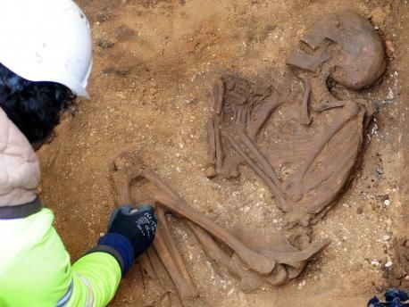 A well preserved skeleton dating to the Roman period was discovered in Yorkshire, England, by contractors digging a trench for sewage lines.