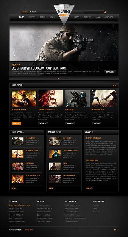 Game Portal Website Template 41559 Portal Website Website Template Portal Game