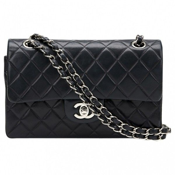Timeless leather handbag CHANEL (€2.517) ❤ liked on Polyvore featuring bags, handbags, real leather handbags, chanel purse, quilted hand bags, chanel handbags and leather purses