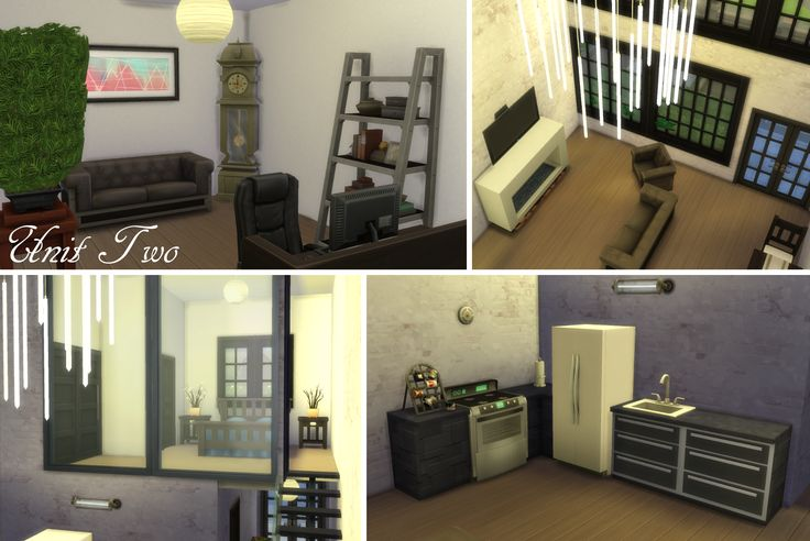 My Sims 4 lot build: Windenburg Apartments (pic of Unit 2) by LiseHaidee Download it from the gallery and enjoy!