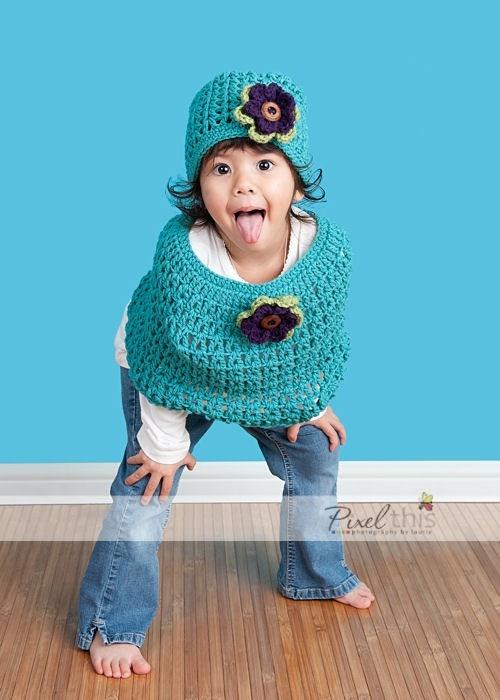 Caplet & Hat Set crochet - So cute, wish I knew how to crochet!