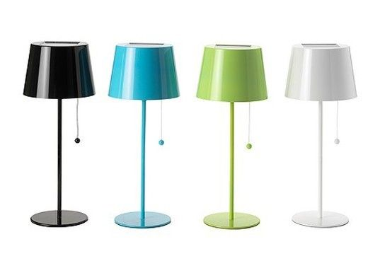 IKEA's Solvinden solar powered lamp comes with rechargeable solar batteries and an LED lightbulb.