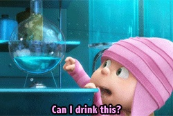 You can drink it if you WANT to, though personally I wouldn't. Despicable Me quote.