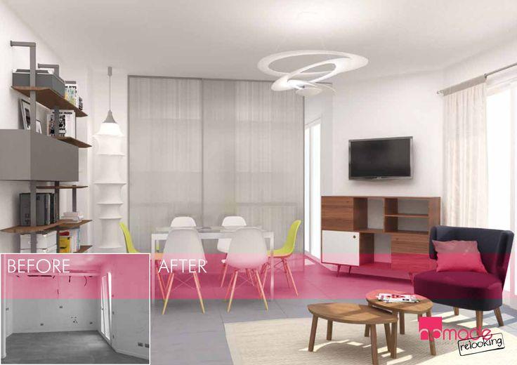 Un appartamento fresco, dai toni naturali e dalle scelte contemporanee #nomaderelooking #nomadearchitettura#relooking#ristrutturare #interiors#interiordesign #italiandesign #livingroom