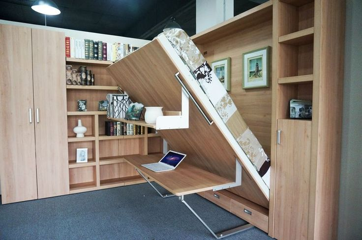 Stronge Structure University Apartment Folding Bed with Book Shelf &Sofa