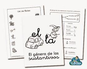 Cuaderno de fichas elaboradas por Cristina Miras que trabaja el reconocimiento de los artículos EL y LA y su asociación al género de lo...