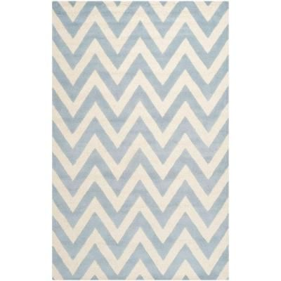 Safavieh Cambridge Light Blue/Ivory 4 ft. x 6 ft. Area Rug-CAM139A-4 at The Home… – Office Design Ideas