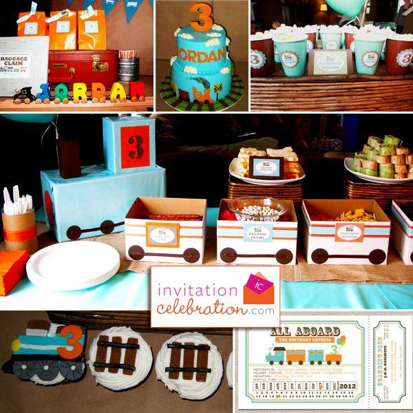 Train birthday party #train #birthdayparty