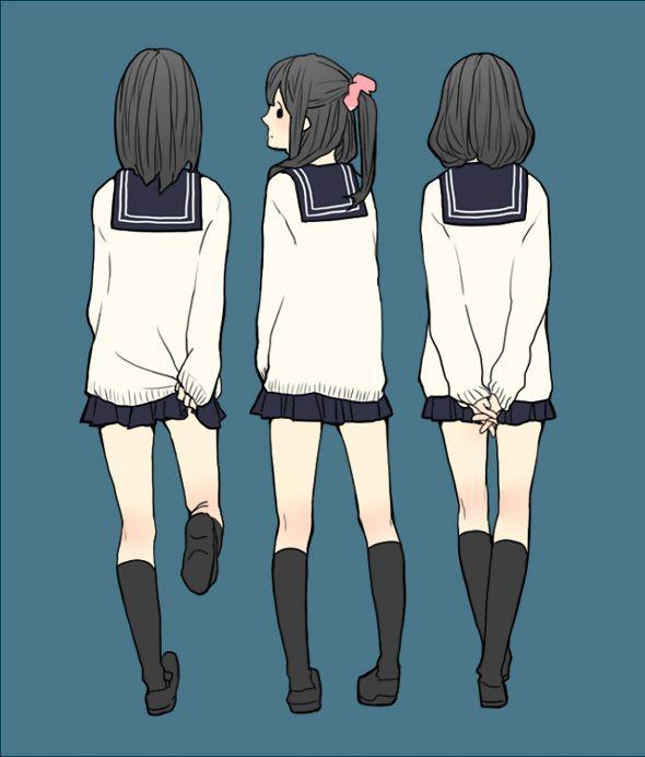 水手服少女。