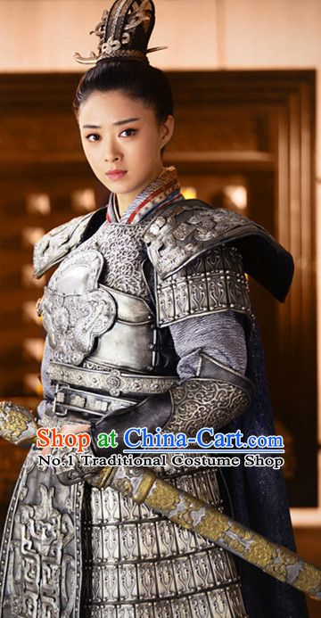 Ancient Chinese Heroine Armor Costumes Complete Set For -1363