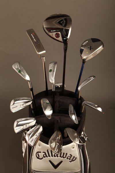 Ernie Els winning Callaway bag of golf clubs at the British Open