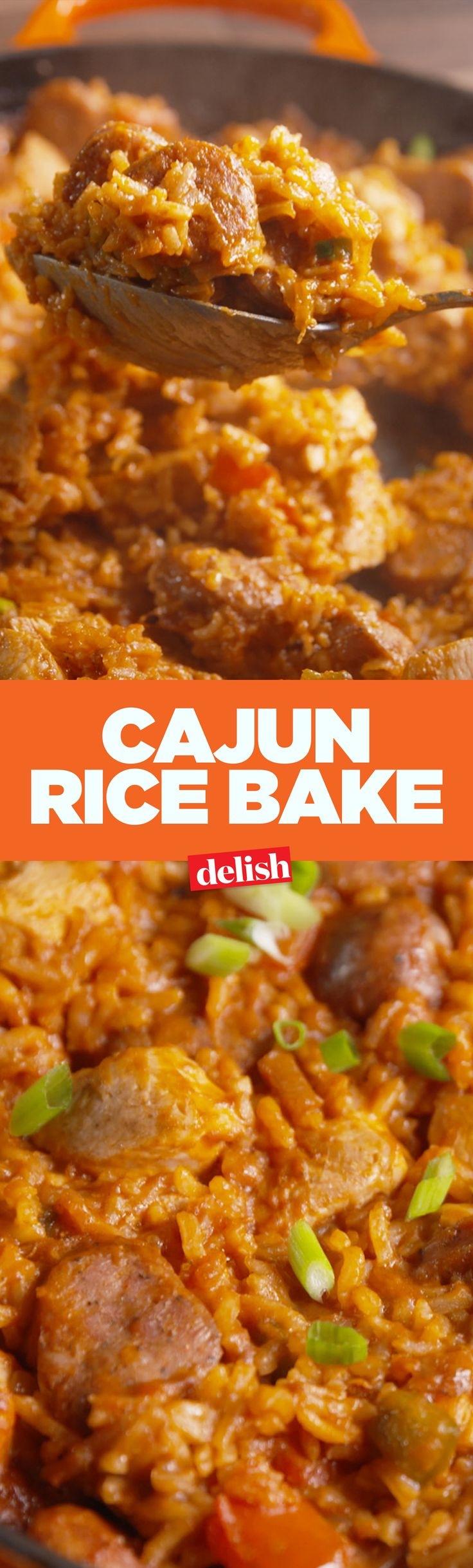 This Cajun Rice Bake will heat up any chilly fall night. Get the recipe on Delish.com.
