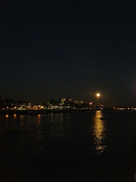 Tower Bridge under the moon