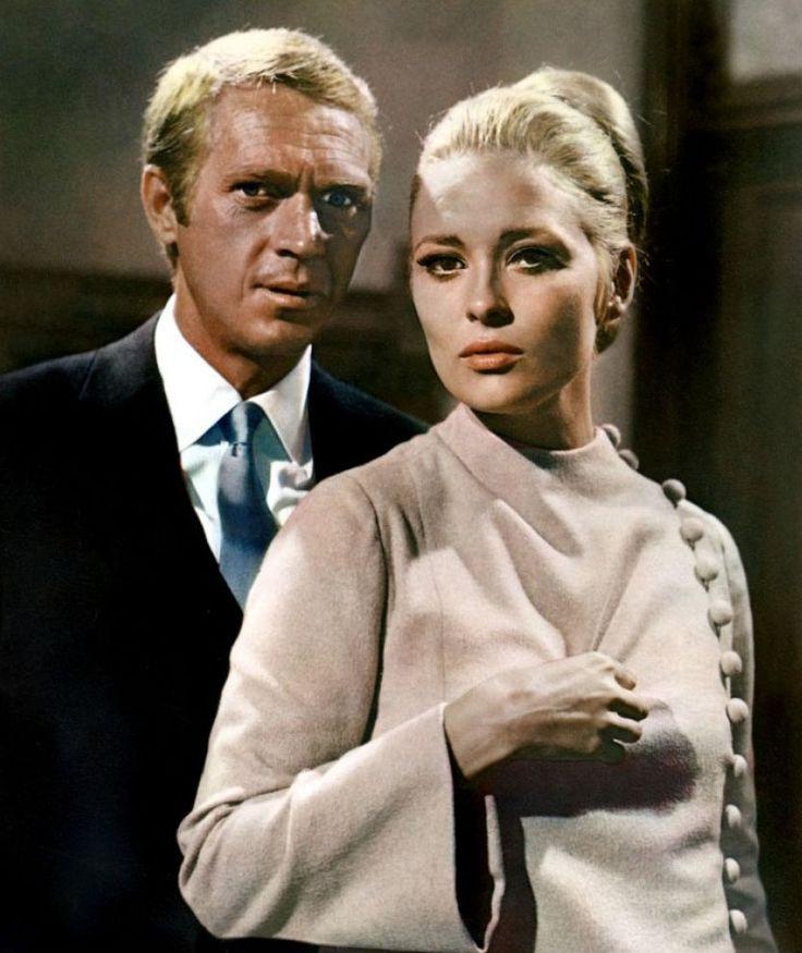 """Steve McQueen y Faye Dunaway en """"El caso de Thomas Crown"""", 1968"""