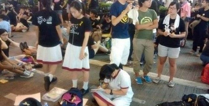 The images 'strange' only in demonstrations in Hong Kong