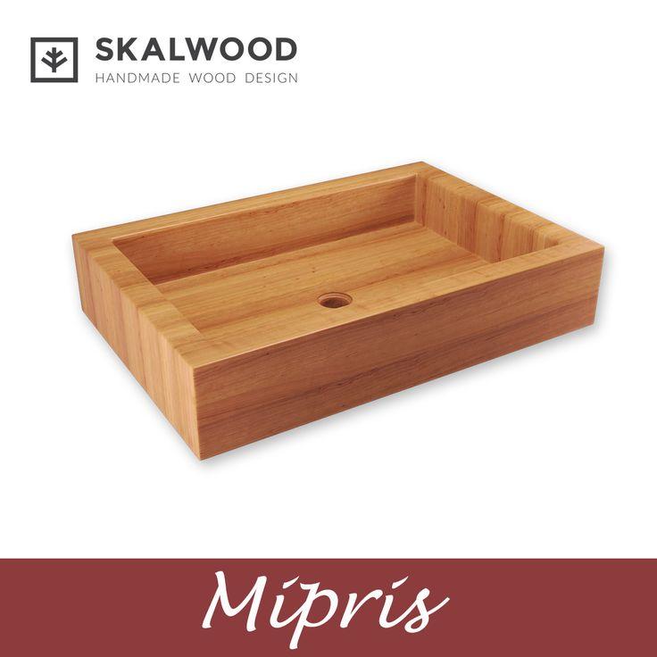 Drewniana umywalka SKALWOOD - MIPRIS  http://skalwood.com/produkty/umywalki/prostokatne/umywalka-drewniana-mipris.html  #Skalwood #wood #design #bathroom #washbasin #drewno