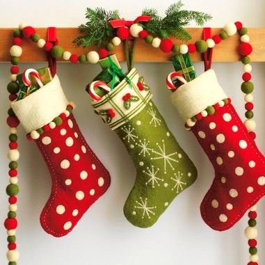 And the stockings were hung ...Pom Pom