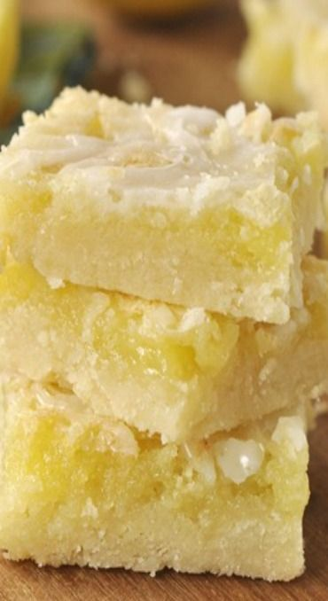 The Best Lemon Bars. I've made these like four times and eat them all within a few days.