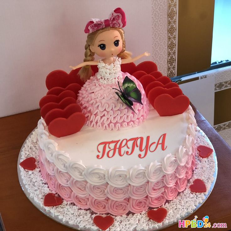 Latest Princess Doll Birthday Cake With Name Edit in 2020