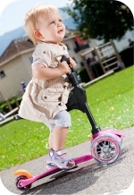 A toddler on the Kick3 (www.microscooters.com.au or www.microscooters.co.nz)