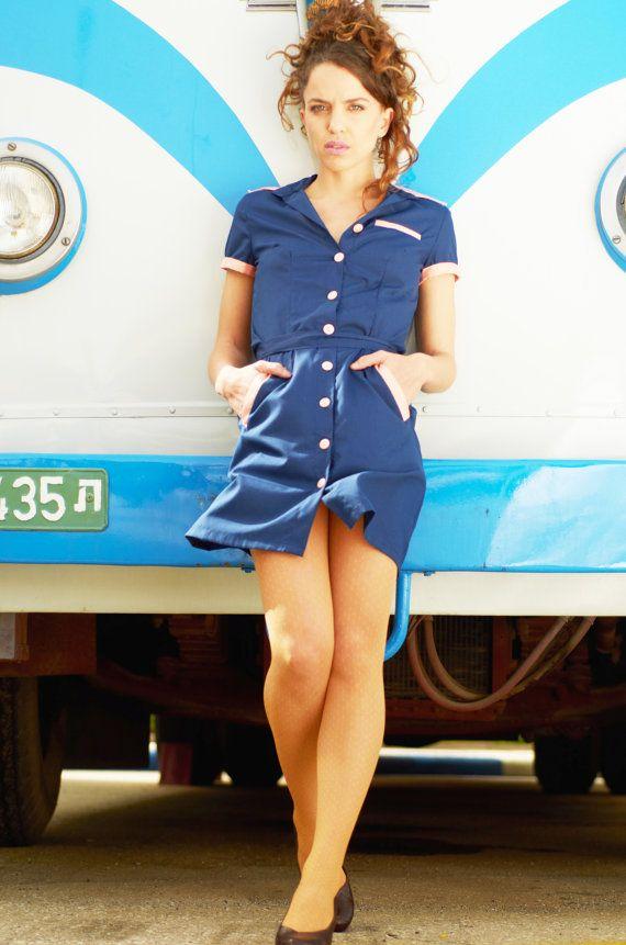 Final Sale Get 30 Off Waitress Uniform Retro Dress