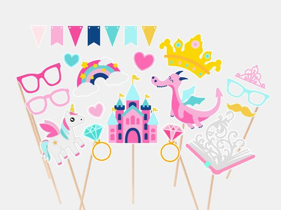Fairy Tale Photo Booth Props Princess by PAPERCUTdesignco on Etsy