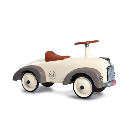 Porteur Speedster Silkgrey au style rétro pour enfants dès un an. Porteur bébé Baghera voiture rétro grise pour partir à l'aventure !