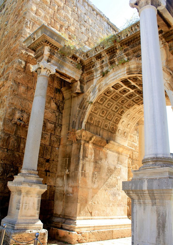 Hadrian's Gate - Antalya,  Turkey. Love history, love architecture! Gotta go here someday!