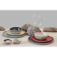 SPECIAL OFFER of 8 person handmade organic dinnerware setting , Wedding Registry, Large ceramic dinner set ,Stoneware dinner setting