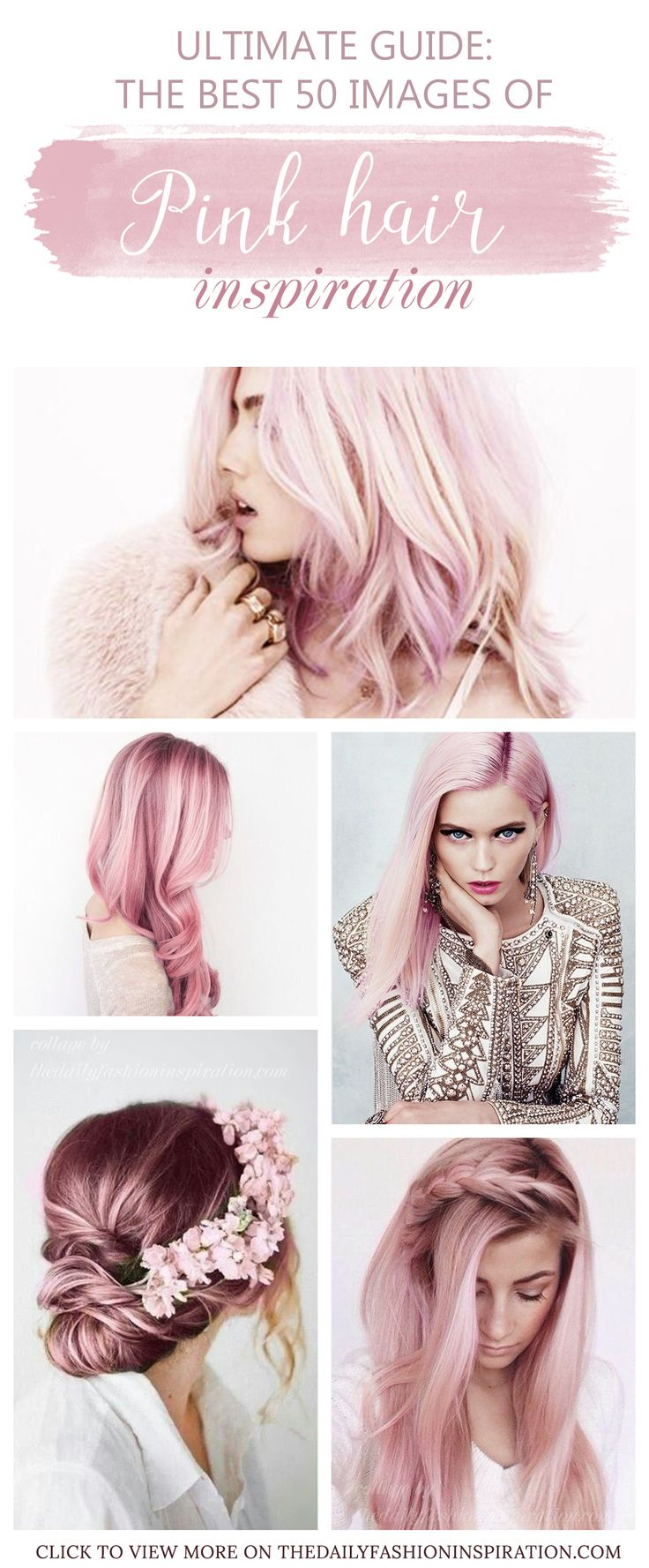 Pink hair ideas are combined in my blog post about the latest hair dye trends. I show you cool pink hair dye techniques, from ombre pink hair to pastel pink hair. I love these beautiful tones and encourage you to see my article and relax with beautiful photographs. If might even help you try this trend too or buy a wig, just to see how it is. There you will find the best selection of pink hairstyles.