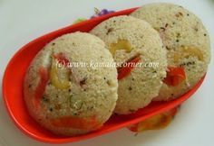 Breakfast Oats Idli: Quick cooking Oats - One and half cups Rawa – 1 cup Curd – 2 cups Salt - 1 teaspoon or as per taste Eno Fruit Salt (Regular) - 1/2 teaspoon ...