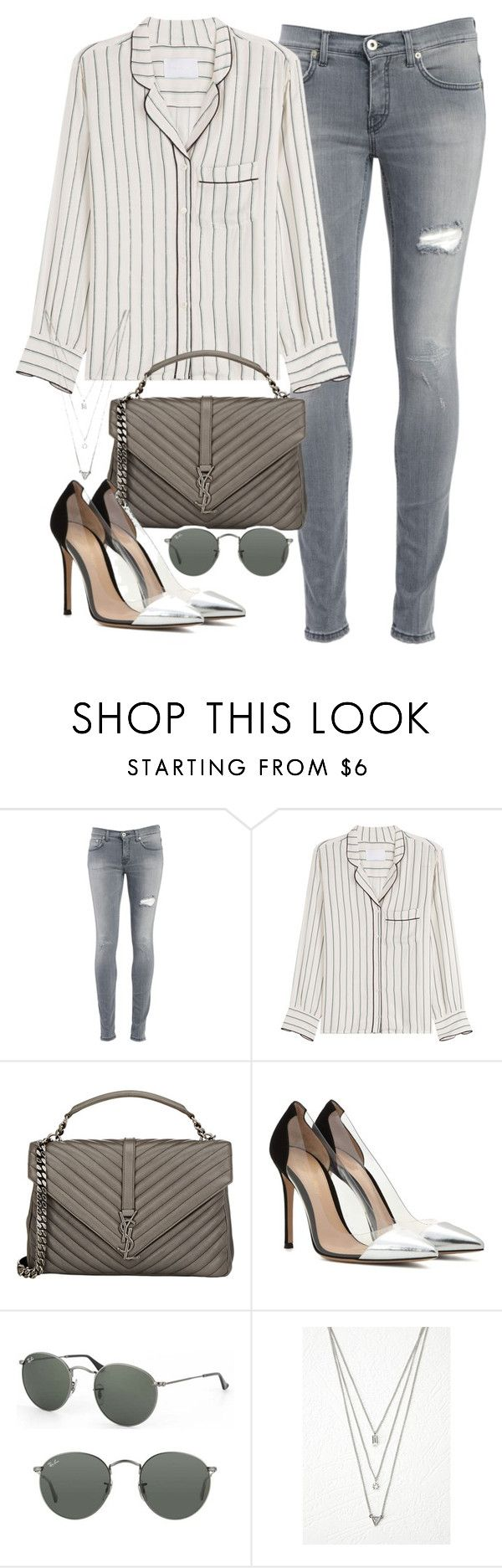 """Sin título #1721"" by camila-echi ❤ liked on Polyvore featuring Dondup, Zadig & Voltaire, Yves Saint Laurent, Gianvito Rossi, Ray-Ban and Forever 21"