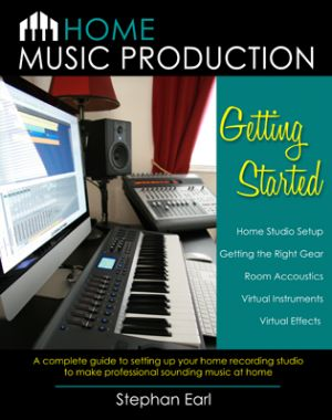 HOME RECORDING STUDIO?   Get this $9.99 book  and ebook Home Music Production: Getting Started -  A complete guide to setting up your home recording studio to make professional sounding music at home. It's available on Kindle, iBooks and Paperback. Learn to record music, learn computer music software, music hardware, virtual instruments, virtual effects, music production, and home recording studio setup.