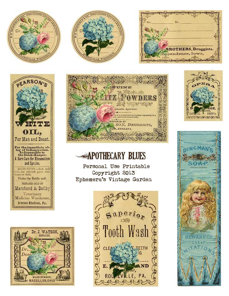 Astounding image regarding free printable vintage apothecary labels