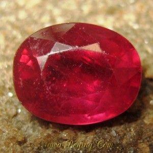 Batu Permata Ruby 2.71 carat Oval Cut