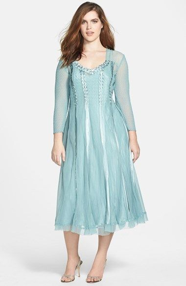 c35f102d7bc Komarov Satin Trim Chiffon Dress (Plus Size) on shopstyle.com ...