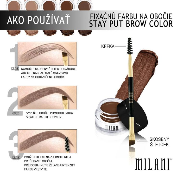 Úprava obočia neboola nikdy tak jednoduchá ako s Milani Stay Put Brow Color!