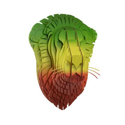 Don't Worry! Be Happy! Check out our new Rasta Lion! #CardboardSafari #CardboardLion #LionHead #RastaLion #ReggaeLion #Rasta #Reggae #Jamaica
