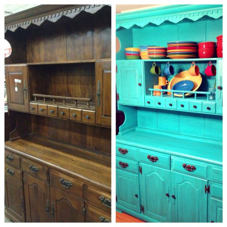 A dedicated customer took an old cabinet and painted it! The cost was under $50