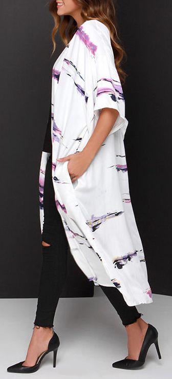 Watercolors kimono