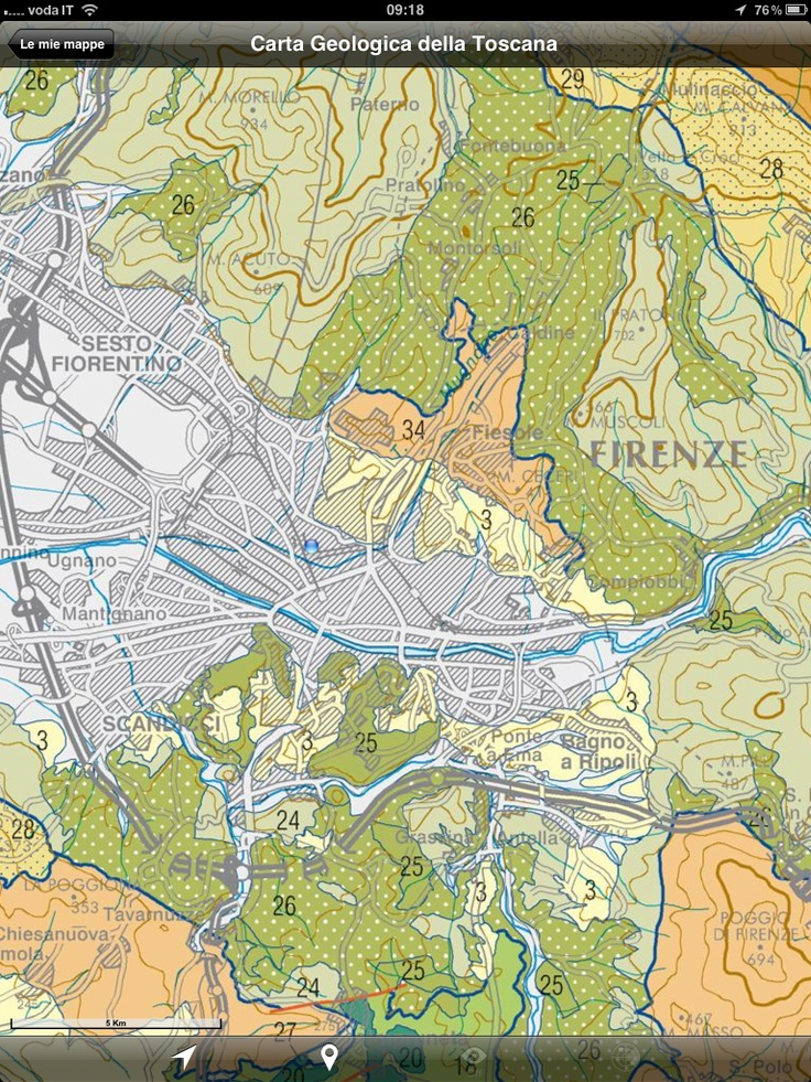 The new Geological Map of Tuscany available through Mappe d'Italia