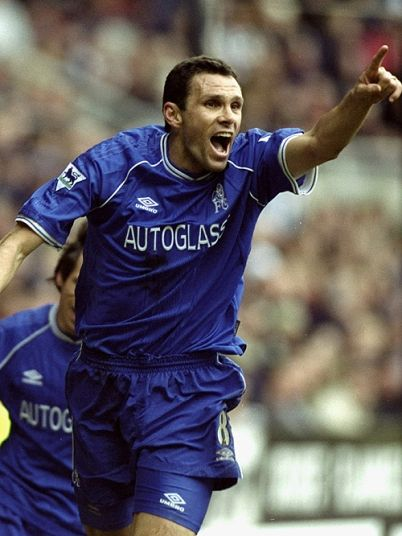 A Gus Poyet goal celebration